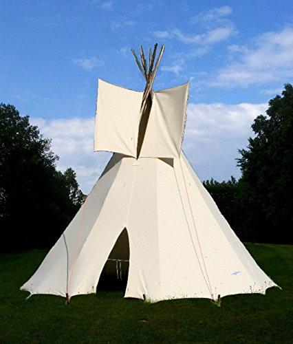 Ø 2,30m Kinder Tipi komplett mit Stangen Indianertipi Indianerzelt Wigwam Zelt Spielzelt Spielhaus...