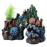 KUIDAMOS Planta de Coral Artificial de 180g para Reptiles
