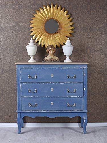 Französische Kommode Rokoko Anrichte Blau Schubladenschrank Sideboard Antik Palazzo Exklusiv