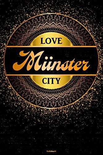 Love Münster City Notizbuch: Münster Stadt Journal DIN A5 liniert 120 Seiten Geschenk