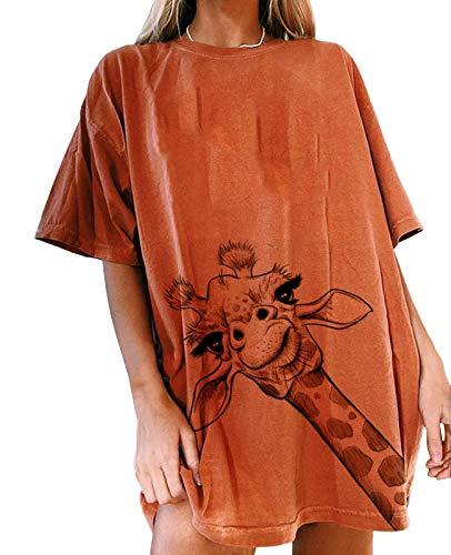 Tomwell Damen Löwenzahn Sweatshirt Langarmshirt Pusteblume Drucken Pullover Herbst Winter Bluse Tops Oberteile B Orange K M