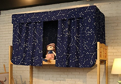 Students Dormitory Bunk Bed Tent Curtain Lightproof Dustproof Cloth Canopy Spread Blackout Curtains Mosquito Protection Screen Net(only Cloths)