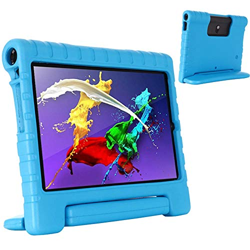GHC PAD Cases & Covers For Lenovo Yoga Smart Tab 5 Tab5 10.1 Inch YT-X705F, Case Kids Shockproof EVA Safe Protable Case Handle Stand Cover For Lenovo Yoga Smart Tab 5 Tab5 10.1 Inch (Color : Blue)
