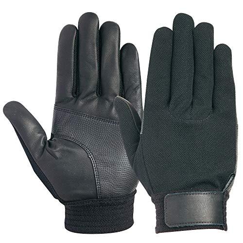 ユアサグローブ 忍 黒牛甲メリ牛本革手袋 Mサイズ C660BK/BK-M 点検整備・一般作業・スポーツ・レジャー