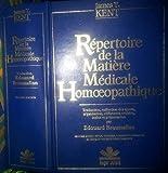 Repertoire de la matière medicale homeopathique kent - Nse Roger Jollois - 26/01/1996
