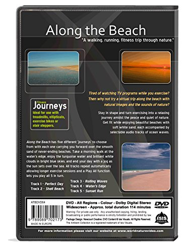 Fitness Journeys - Along the Beach, for indoor walking, treadmill and cycling workouts Missouri