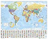 Maps - World Map - Mini Poster Landkarten Poster Politische