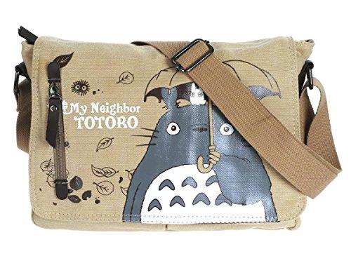CoolChange Totoro Leinen Umhänge Tasche, Beige