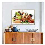 Küche Dekor Lebensmittel Malerei Obst Gemüse Korb Erdbeer