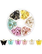 Souarts Fjäril hänge hantverk berlock smycken hänge örhängen armband halsband gör-det-själv halsband armband örhängen gör-det-själv smycken hantverk för smyckestillverkning 72 stycken