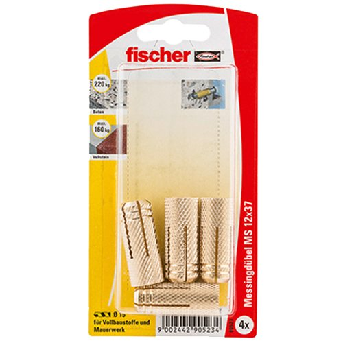 Fischer Messingdübel MS, 12 x 37 K SB-Karte, 90523