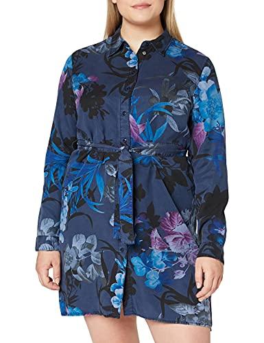 Desigual Vest_Florencia Vestido Casual, Blue, XS para Mujer
