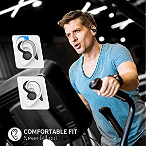 Arbily Wireless Earbuds Bluetooth 5.0 Headphones, True Wireless Stereo Earphones Sport Waterproof IPX7 60H Play Time with Charging Case for Workout Running