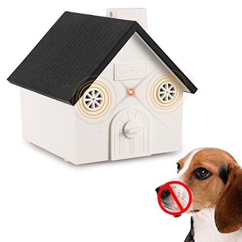 APoony Hund Ultraschall Anti Bellen Repeller mit Hängendem Seil Cute Haus Form Anti-Bellkontrolle Ultraschall-Anti-Bell-Stopp Antibell Trainer Im Freien (SW)