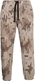 NTQFY Desert Camouflage Pattern Men's Sweatpants Comfy Jogger Pants with Pockets Lightweight Athletic Pant