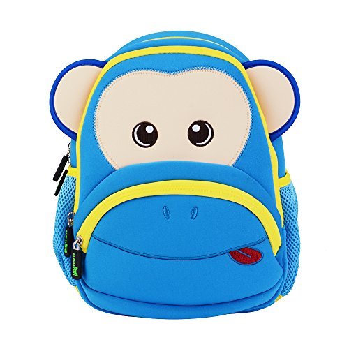 Sac à Dos, icci [Mignon] Enfant Sac à Dos Filles Garçons Sac à Dos [Maternelle] [école] [voyage], Mignon Sac à Dos Singe Bleu