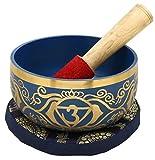 6e Chakra Ajna Ou Brow Ou troisième oeil Indigo bouddhistes Singing Bowl For...