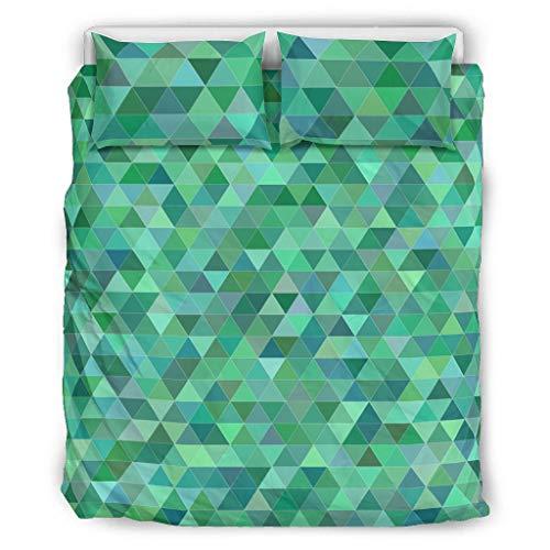 BBOOUAG Ropa de cama Triángulo Patrón Confort Categorías Patrón Europeo Color Gris Cama Doble Blanco 264x229cm