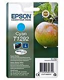 Epson Stylus T1292 - Cartucho de tinta, tamaño L, 1 unidad, color cian válido para los modelos WorkForce, Stylus, Stylus Office y otros, Ya disponible en Dash Replenishment, Normal (235M274)