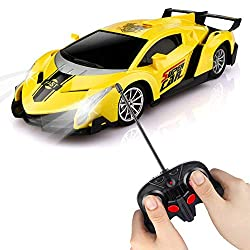 Cool Remote Control Sports Car: This radio controlled car features quick and accurate respond with function such as forward, backward, left and right turns. The white headlights will light up when running forward so that kids can have fun day and nig...