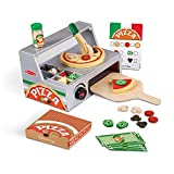 Melissa & Doug- Top & Bake Pizza Counter Play Set Muñecos cabezones (19465)
