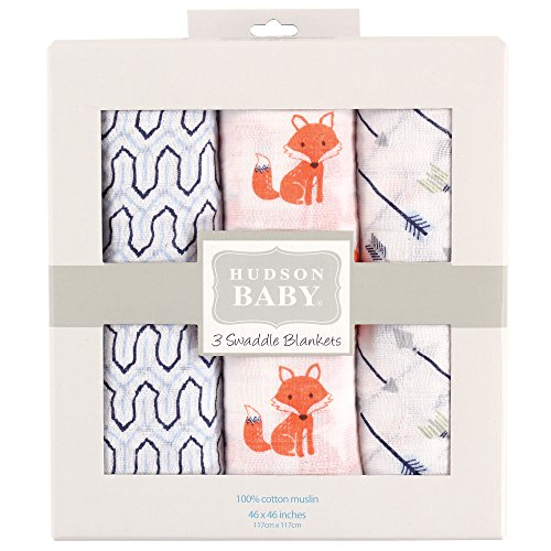 Hudson Baby Muslin Swaddle Blankets Product Image