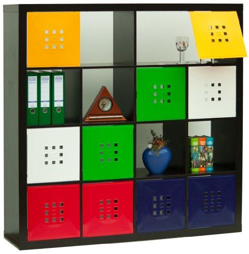 Designer Regaltür als Fach-Einsatz, Regalsysteme mit Mass ca. 33,6cm x 33,6cm, Tür für Ikea Regal Expedit Kallax Nornäs - Würfel Flexi - XXXL Lutz - Quelle Raumteiler* Schneeweiß