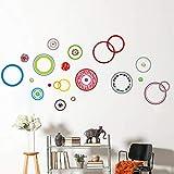 DIY colorido punto círculo espuma etiqueta de la pared arte mural PVC pared calcomanía TV sofá fondo decoración del hogar cartel mural 215 * 95 cm
