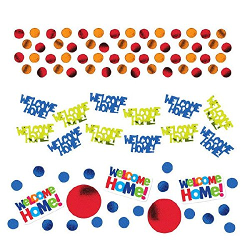 Amscan Welcome Home Value Pack Confetti Mixes, 1.2 oz, Multicolored