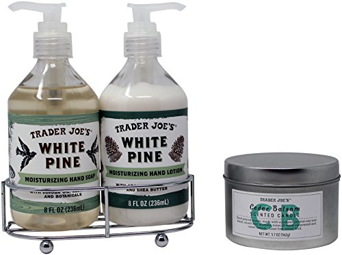 Trader Joes White Pine Hand Soap,Lotion Duo and Balsam Candle