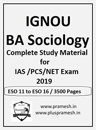 IGNOU BA latest Sociology Study Material ( IAS /PCS/NET Exam 2019 ) -Photocopy