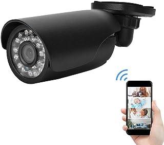1080p Cámara de vigilancia de Seguridad para el hogar Cámaras Bullet con detección de Movimiento + 24 LED + visión Nocturna AHD CCTV cámara Exterior/Interior(PAL)
