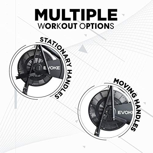 Evoke Ojas -110BS Blend Exercise Cycle with Moving Handles and Back Support (Black)