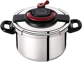 Autocuiseur SEB Clipso Plus P4371406 8L : 6 à 8 personnes - 2 programmes de cuisson - Panier vapeur - Ouverture/fermeture ...