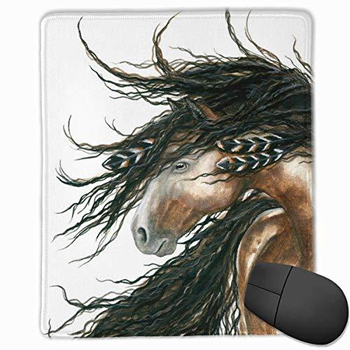 Gaming Mouse Pad, personalisierte benutzerdefinierte Maus Padnon-Slip Gummi Gaming Mouse Pad, bleiben Sie positiv, arbeiten Sie hart und lassen Sie es passieren Majestätisches Pinto-Pferd