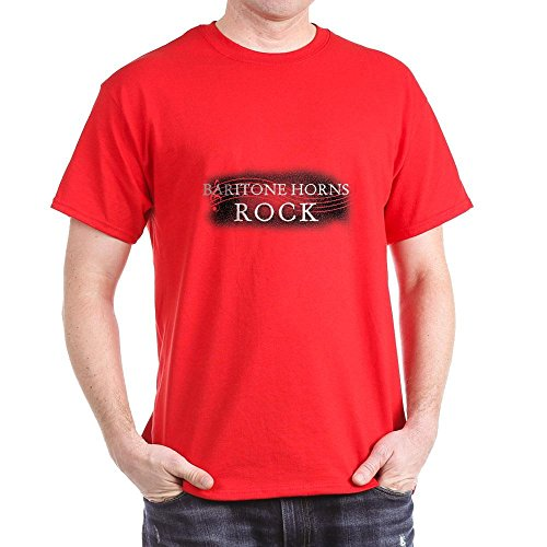 CafePress - Baritonhörner - T-Shirt aus 100% Baumwolle Gr. M, rot