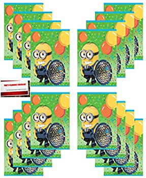 16 Pack  Despicable Me Minions Birthday Party Plastic Loot Treat Candy Favor Goodie Bags  Plus Party Planning Checklist by Mikes Super Store