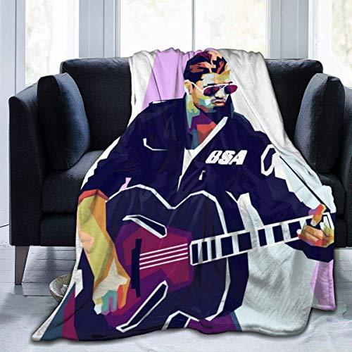 Manta de Franela Tela de Cepillo Extra Suave Súper cálida Mantas para sofás acogedora y Ligera Dolor de Teatro de Dibujos animados50 x40,W127cm X L102cm