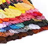 Hilos Punto de Cruz Hilos Bordar Hilos Bordado Hilos para Bordar 50 Tipos Hilos para Hacer Pulseras Embroidery Thread Bordados y Encajes para Coser Hilos Pulseras Algodon