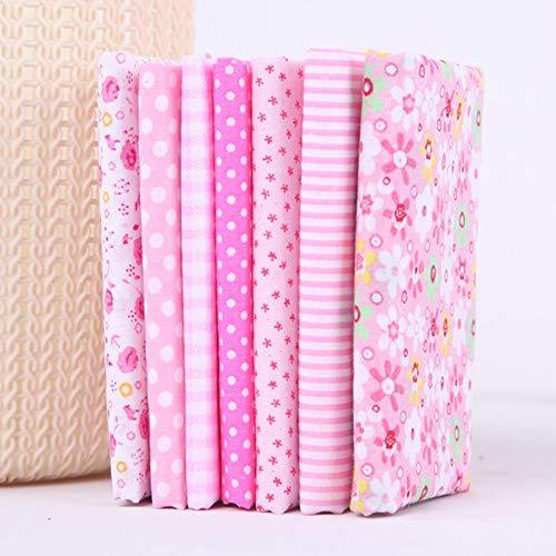 hehsd0 Baumwollstoff 25x25cm DIY Nähen Textil für Vorhang Quadrat Patchwork Punkt umendruck Tabby Small Tailors Tischdecke Home(Pink)