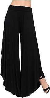 CICIYONER Pantalón Ancho de Pierna Ancha con Capas de Mujer Pantalones Anchos de Cintura Alta