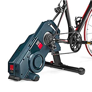 Elite Turno - Rodillo de entrenamiento para bicicleta inteligente, transmisión directa, con resistencia de tecnología fluida y sensor Misuro B+ integrado, Negro