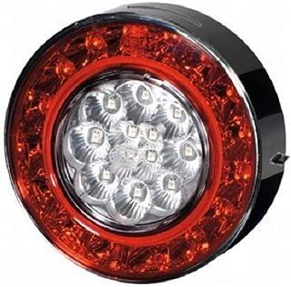 LED-Lichtfarbe: gelb//rot LED Agroluna 12V//24V Anbau HELLA 2SD 343 390-401 Heckleuchte Lichtscheibenfarbe: glasklar