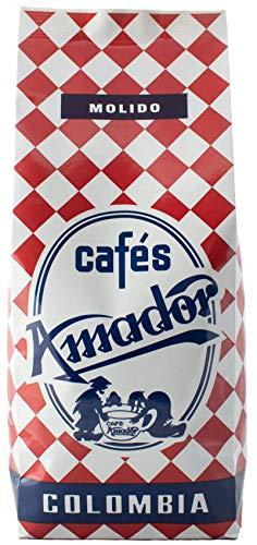 Cafés AMADOR - Café MOLIDO FINO Natural Arábica - COLOMBIA (Molienda para Cafetera Italiana / Espresso) (2x250g) 500g