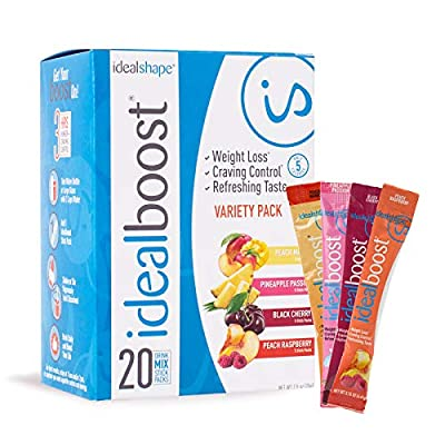 IdealBoost, Weight Loss Drink Packets, w/ Hunger Blocking and Energy Blends, 30 Servings...