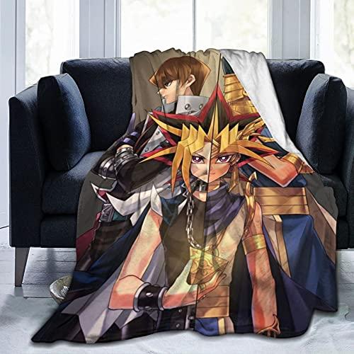 Wengwm Yu_Gi_Oh Ultraweiche Micro-Fleece-Decke, warm, flauschig, leicht, Plüsch, Luxus-Bettdecken, gemütlich, Couch, Sofa, Flanell, Decke, lustige Steppdecke für Erwachsene und Kinder, 127 cm x 40
