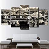 Imagenes Enmarcadas Cuadro En Lienzo HD Print 1965 Ford Mustang Canvas Set Poster-Marco