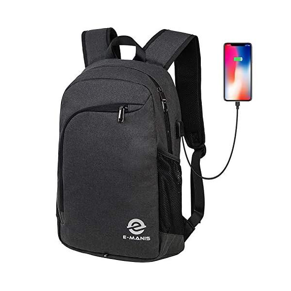 516PnRdQqdL. SS600  - E-MANIS Mochila para portátiles Mochila para Ordenador 15.6 Pulgadas USB Mochila de Portátil Bolso Mochilas Escolares…