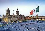 MX-XXUOUO Mexico Cathedral Zocalo Square Città del Messico, puzzle in legno da 1000 pezzi-29.5'x19.7'