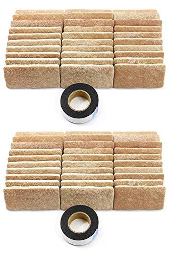 軽量レンガタイル かるかるブリック Sサイズ(ミニサイズ) 60枚入(30枚入×2箱)両面テープ付 MB-5ライトベージュ